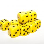 12mm spotted D6 yellow
