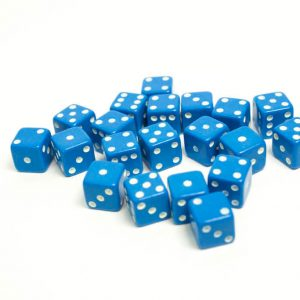 7mm Blue spotted Dice Bow & Blade Games