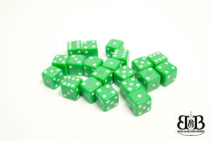 7mm Green spotted Dice Bow & Blade Games