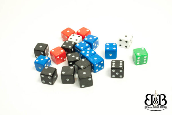7mm Mixed spotted Dice Bow & Blade Games