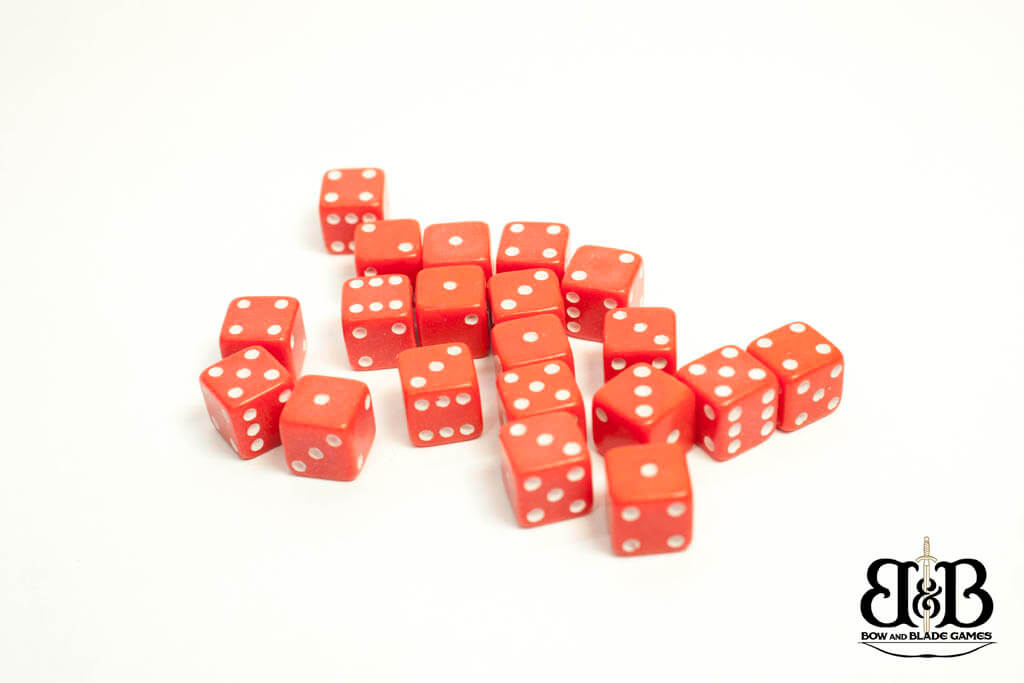 7mm Red spotted Dice Bow & Blade Games