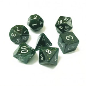 Galaxy Dark Green Poly Dice Set