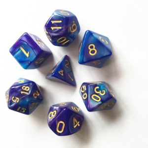 HDB20 Deep Blue Purple Poly Dice Set