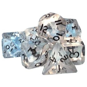 Poly dice set Gem Clear