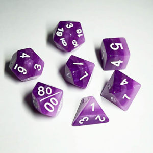 Rainbow Poly Dice Set Amethyst