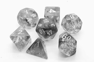 storm Grey poly dice set