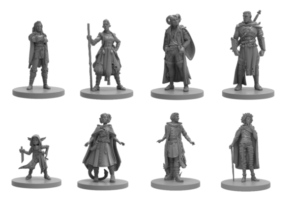 Mighty Nein Critical Role miniatures from Steamforged Games
