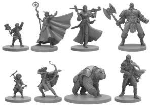 Vox Machina Critical Role miniatures from Steamforged Games