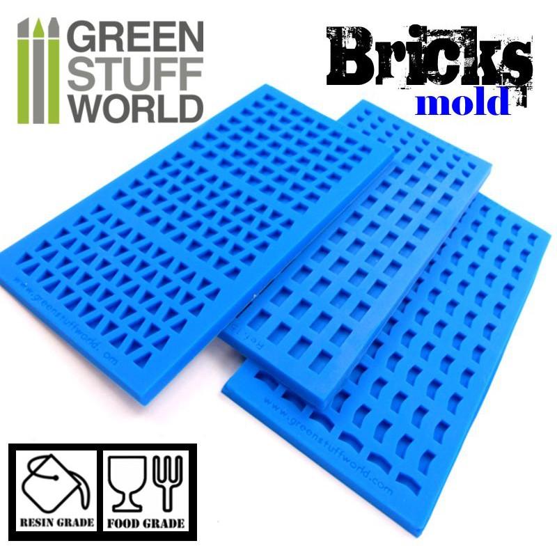 Green Stuff World Bricks Silicone Mold