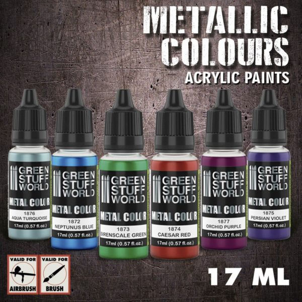 Green Stuff World Metallic Colours Paint set