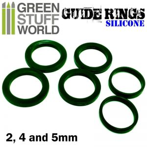 Green Stuff World Silicone Guide rings for textured rolling pins
