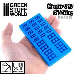 Green Stuff World Silicone mold - Concrete Bricks
