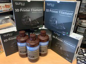 3D printing filament and resin