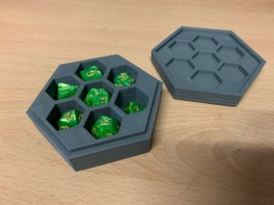 Bow and Blade Games 3D printed dice tray and RPG doce