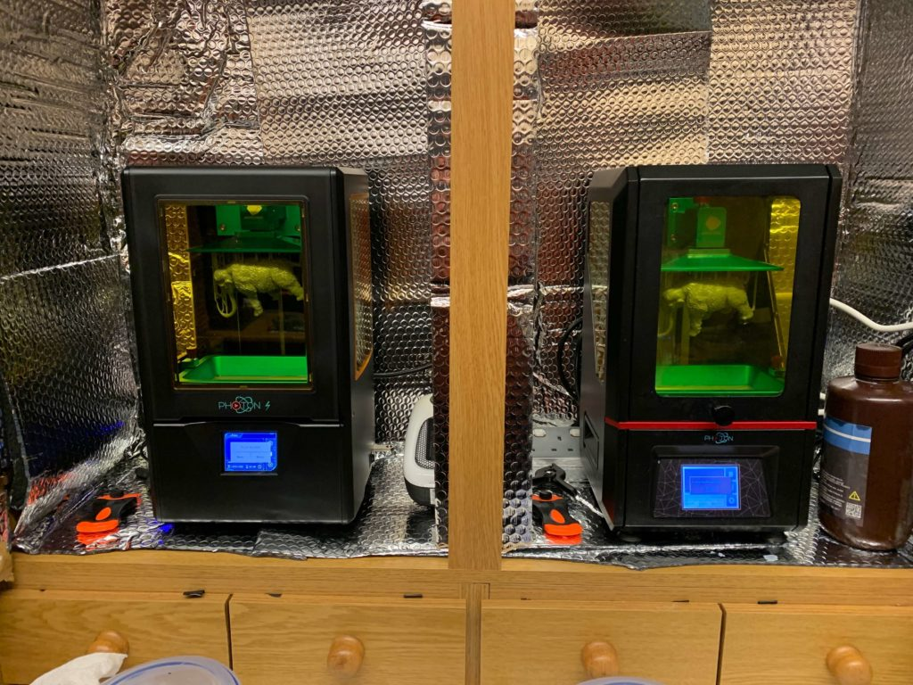 Resin 3D printers (Any cubic Photon & Photon S)