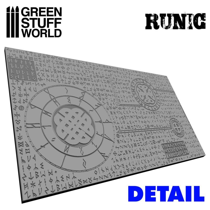 Green Stuff World Textured Rolling Pin Runic