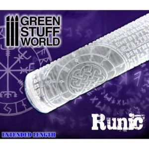 Green Stuff World Textured Rolling Pin Runic