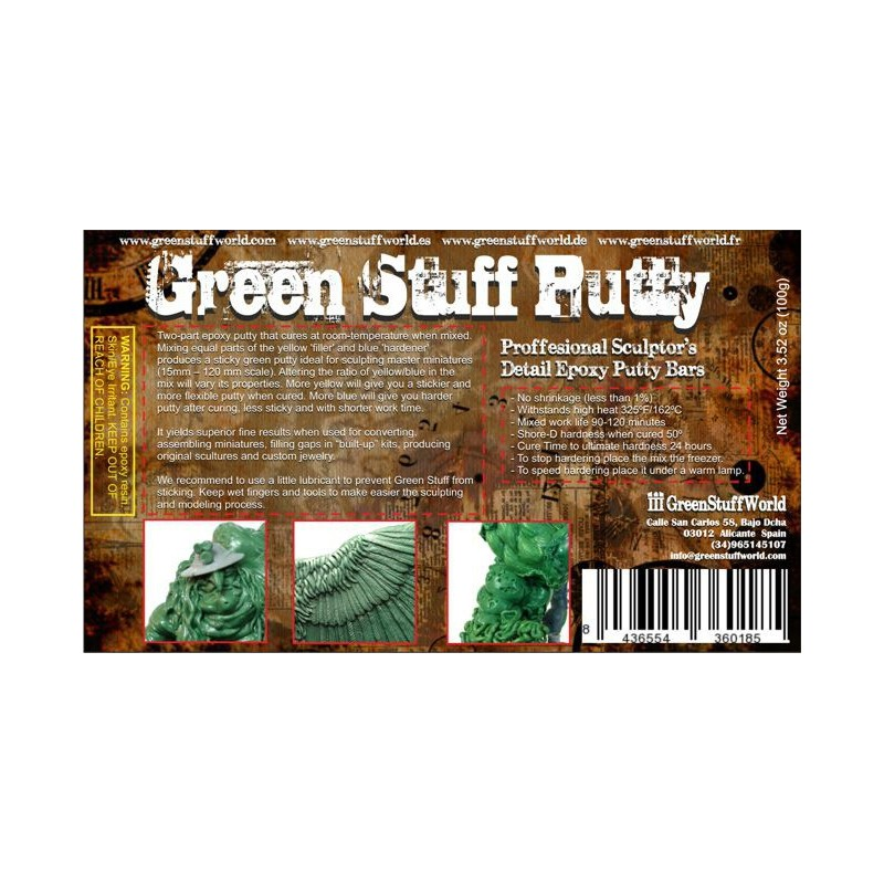 Bow and Blade Games Green Stuff 100g bar