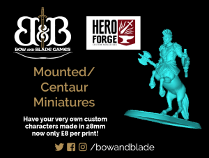Hero Forge Printing UK - Mounted & Centaur Miniatures