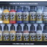 Vallejo Model Air Basic Colours Set - VAL71178
