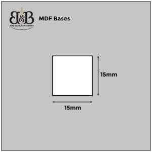 Bow & Blade Games MDF Bases 15mm x 15mm Square