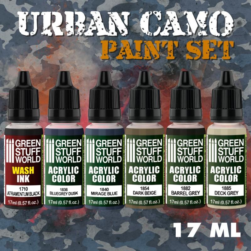 Green Stuff World Paint Set Urban Camo