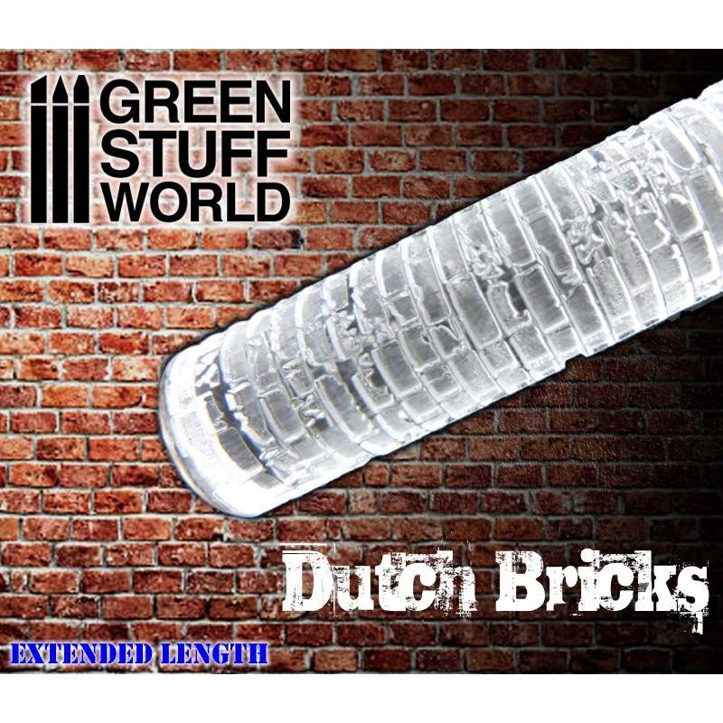 Green Stuff World Textured Rolling Pin Dutch Bricks