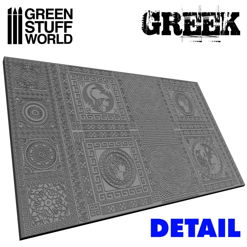 Green Stuff World Textured Rolling Pin Greek