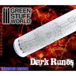 Green Stuff World Textured Rolling Pin - Dark Runes